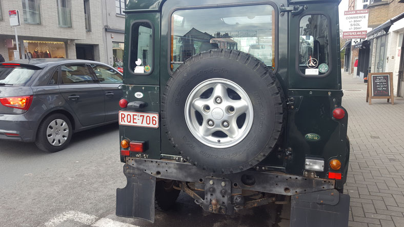 Land Rover, plaque ordinaire