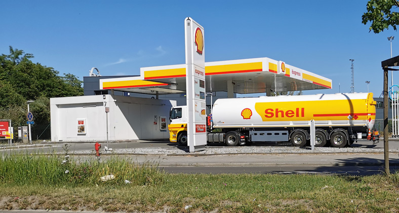 camion citerne, carburant, shell express